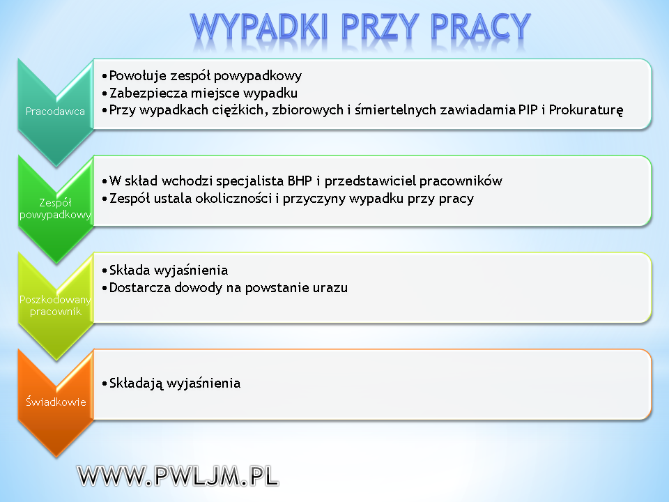 Dokumentacja powypadkowa - wypadki przy pracy - Miasteczko Śląskie P.W. LJM Leszek Maruszczyk
