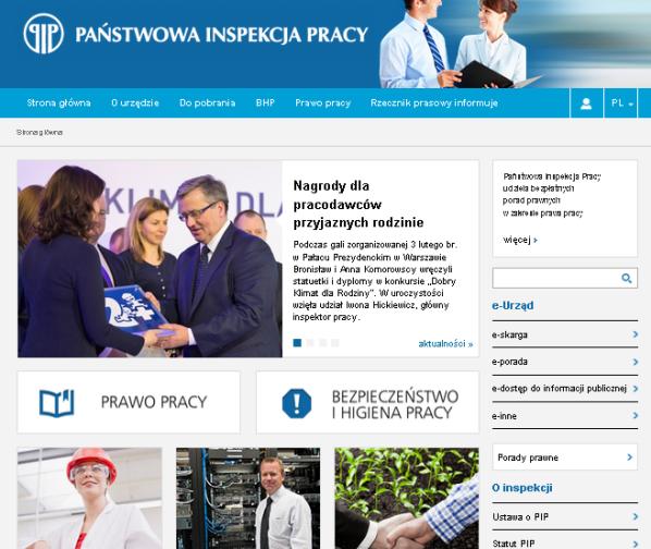 Państwowa Inspekcja Pracy - serwis internetowy