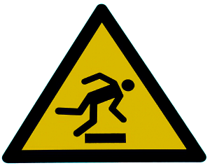 znak ostrzegawczy - wypadki przy umowach cywilnoprawnych