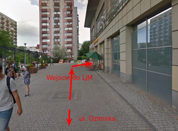 Wejście od Rossmana Opolanin widok od wejścia do tesco LJM